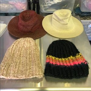 Free People Beanie Sun Hat Lot of 4 One Size